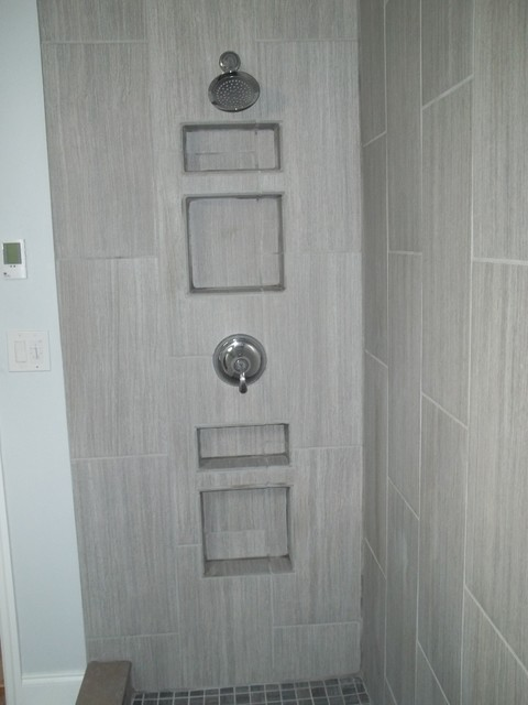 Vertical Tile Contemporary Bathroom Other By