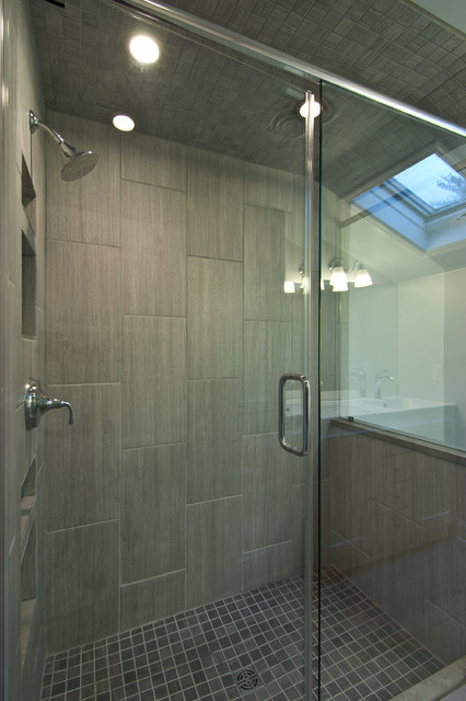 Vertical tile contemporary bathroom other metro by franks home