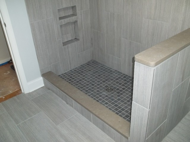 Vertical Tile Contemporary Bathroom Other Metro By