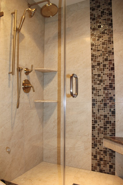 Verticle shower accent tile - Transitional - Bathroom - Baltimore ...