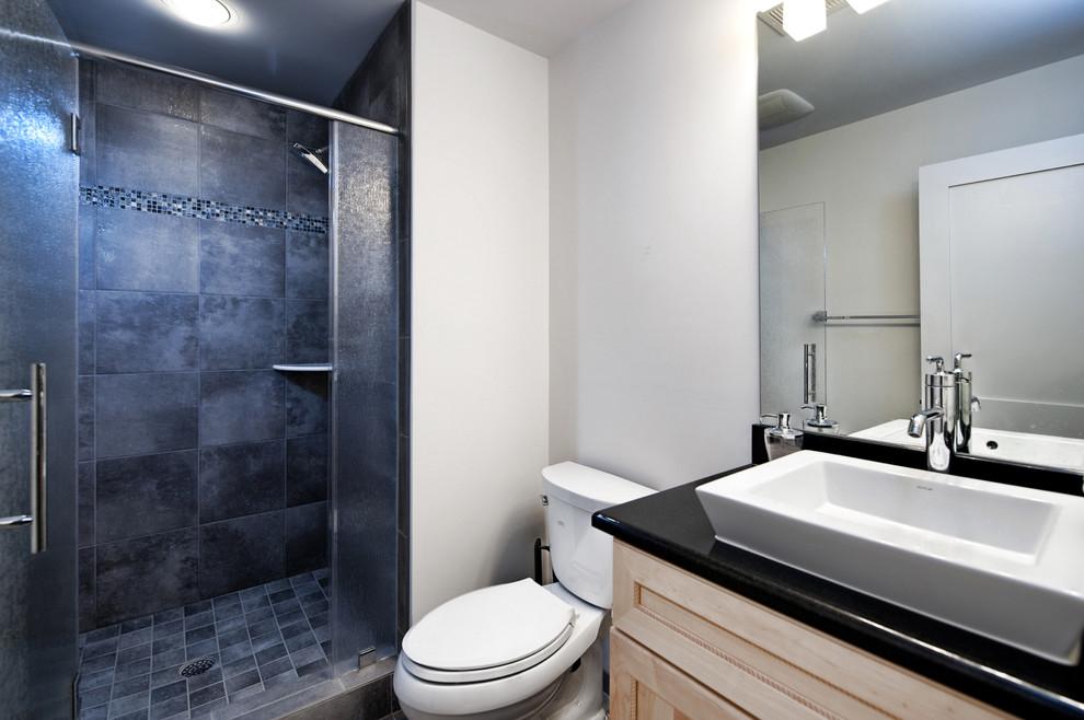 Example of a trendy bathroom design in DC Metro