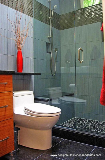 Very small bathroom remodel contemporary bathroom for Really small bathroom remodel ideas
