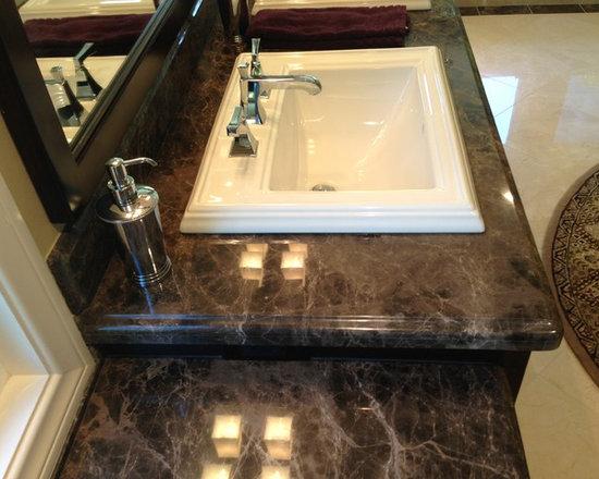 Emperador Dark Marble Brown Bathroom Design Ideas, Pictures, Remodel ...