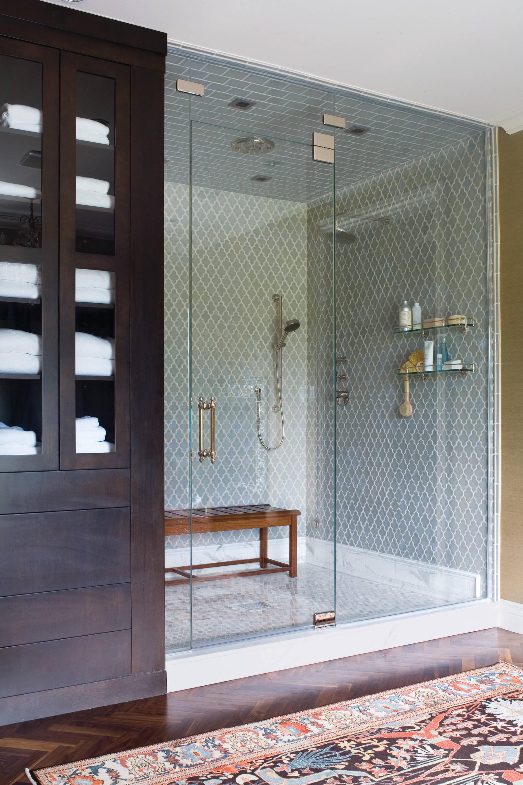 groutless shower tile