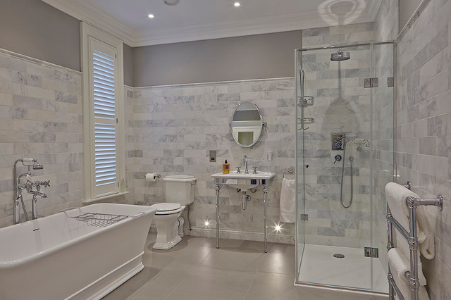 Victorian Family Home Contemporary Bathroom Manchester Uk By Curve Interior Design Ltd