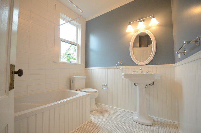 Victorian heritage home restoration interior traditional bathroom