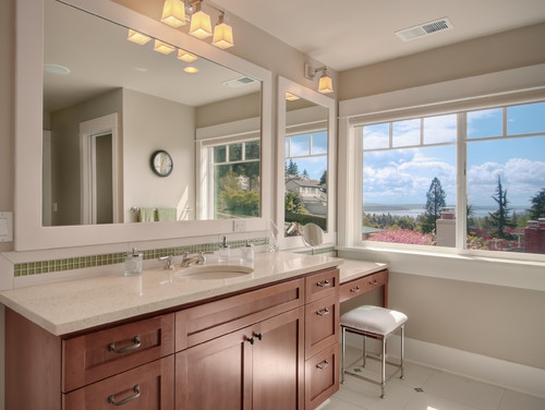 Vanity Lights Installed On Mirror : How To Install Bathroom Vanity Lighting