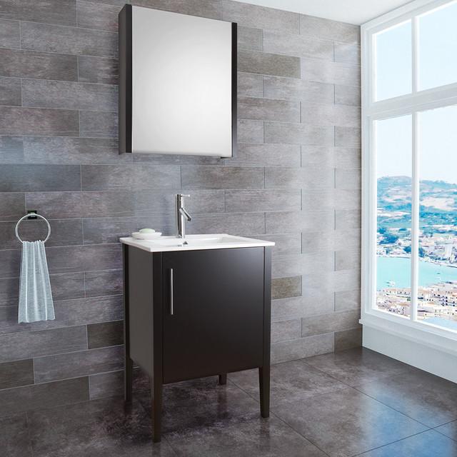 VIGO 24-inch Maxine Single Bathroom Vanity with Medicine Cabinet contemporary-bathroom