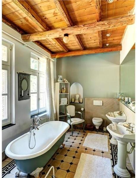 Villa cecilia mediterranean bathroom other metro for Bathroom decor riverton