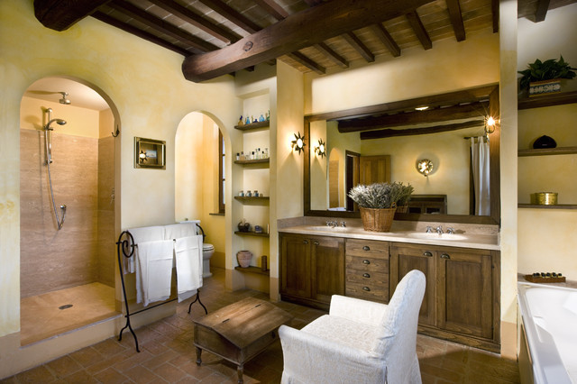 Villa cetona siena italy traditional bathroom other metro by fabrizia frezza - Bathroom design ideas italian ...