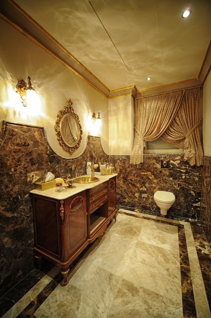 Villa In Swan Lake Compound New Cairo Contemporary Bathroom Other Metro By The Design Crew