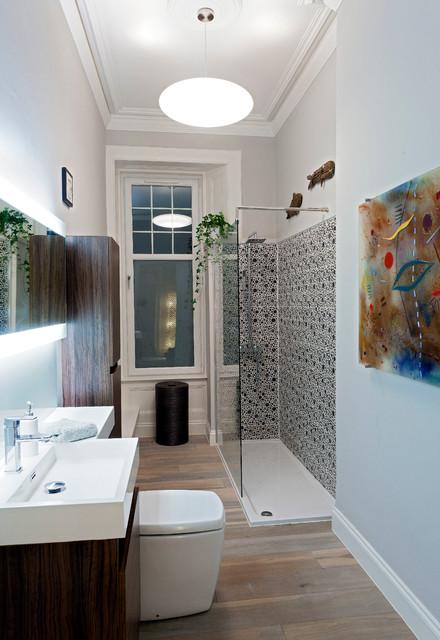 villa refurbishment Glasgow - Contemporary - Bathroom ...