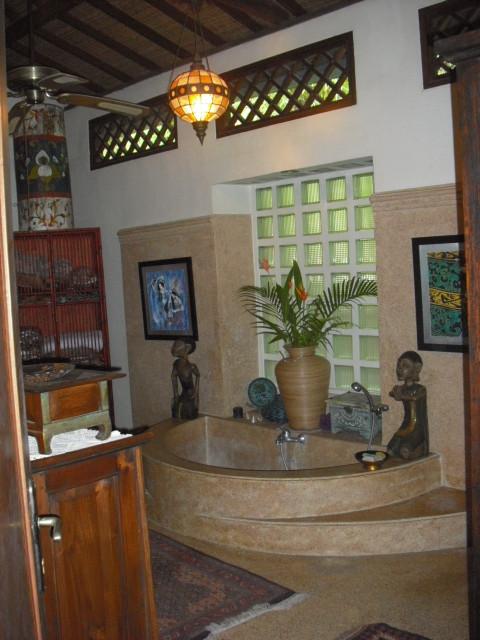 Villa sanggah in bali tropical bathroom other metro for Balinese bathroom design