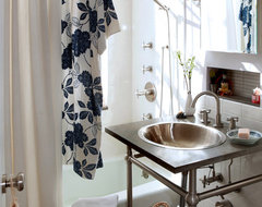 Village Apartment NYC eclectic bathroom