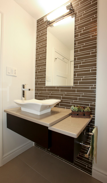 Ville st laurent contemporary bathroom montreal by for Bathroom design montreal