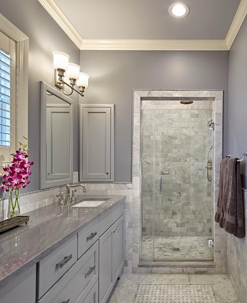 gray tone quartzite countertop