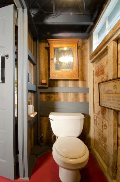 Vintage Barn Siding Rustic Bathroom Other Metro By