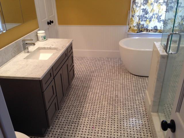 Vintage bathroom remodel midcentury bathroom for Bathroom remodeling oklahoma city