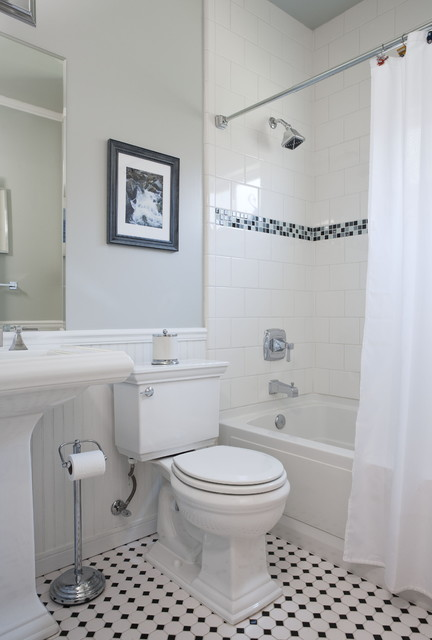 Gallery For gt Vintage Bathroom Black And White