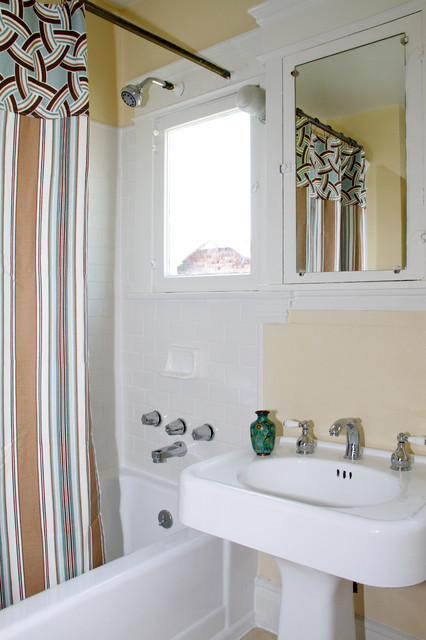 Vintage Craftsman Bathroom Contemporary Bathroom Los