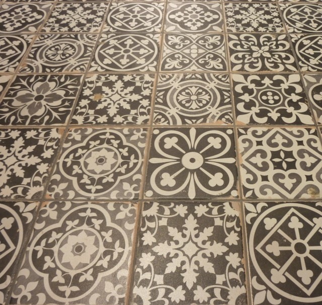 Vintage decorative tiles sydney mediterranean bathroom sydney by kalafrana ceramics - Decorative bathroom tiles ...