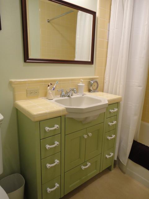 Vintage Green Yellow Bath Traditional Bathroom San Luis Obispo By Kitchen Bath Works
