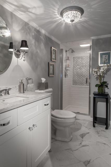 Vintage Hollywood Glamour Art Deco Inspired Bath Modern