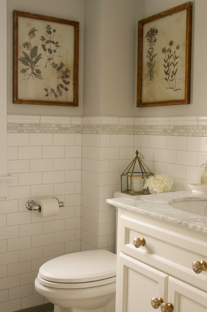 Vintage Hotel Style Bathroom Renovation Traditional