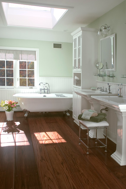Vintage master bath remodel west chester pa for Master bathroom flooring