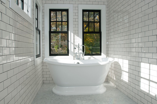 Vintage Meets High End Bathroom Traditional Bathroom New York