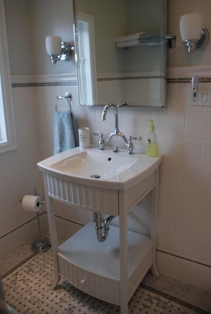Vintage Modern Bathroom traditional-bathroom