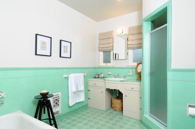 Vintage tile bathroom traditional bathroom los angeles by