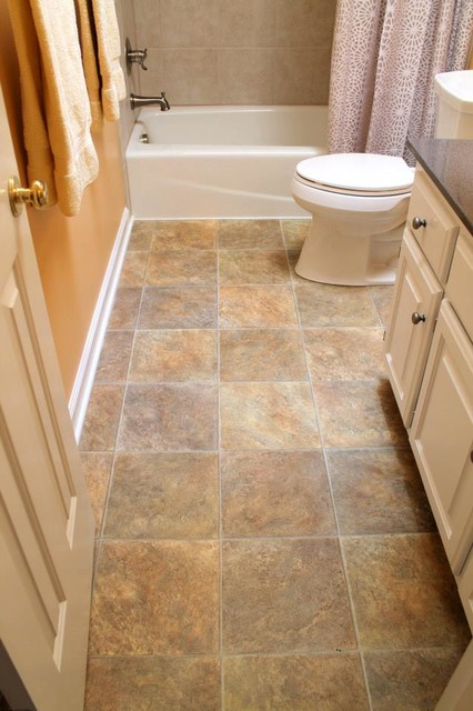 Floor tile vinyl with traditional bathroom image mag for Vinyl flooring bathroom
