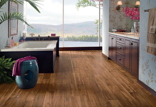 Vinyl Plank Bathroom Asian