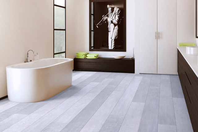 Vinyl Resilient Flooring Modern Bathroom Other Metro