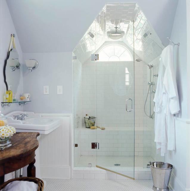 Virginia highlands cottage traditional bathroom for New england style bathroom ideas