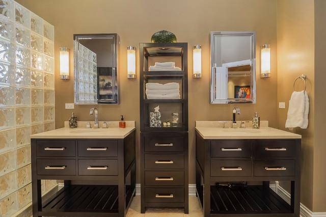 Vishal & Shefali's Remodel Project - Transitional - Bathroom - chicago - by Sebring Services