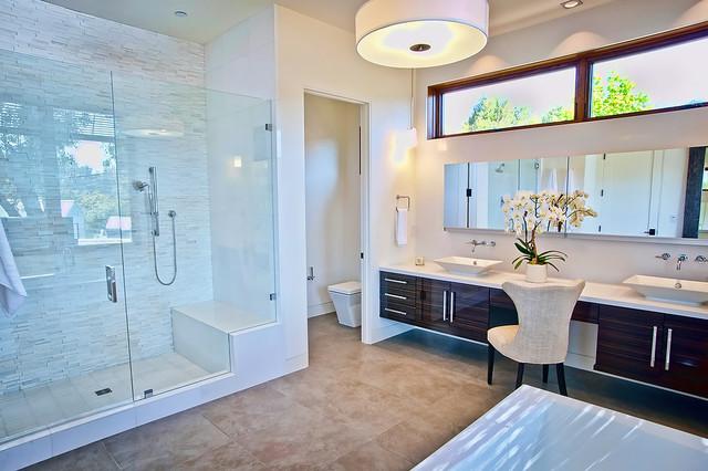 Vision house los angeles contemporary bathroom los for Contemporary kitchen cabinets los angeles
