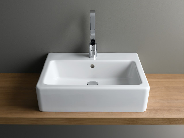 Vitra options nuo rectangular basin bathroom london by uk bathrooms - Designer bathroom sinks basins ...