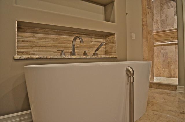 Volcanic limestone freestanding soaking tub for Limestone tub