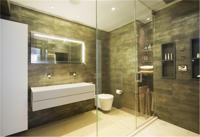 W 24th street modern bathroom new york by element for Bathroom design questions