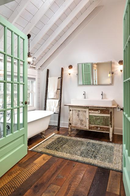 Wahoo Lake House Master Bath Eclectic Bathroom