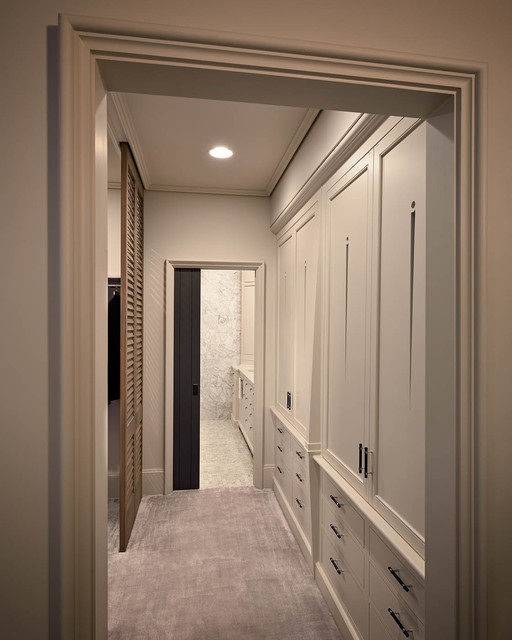 Walk In Closet Modern Bathroom Other Metro By Derhodes Construction