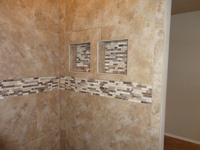 Walk in shower contemporary bathroom other metro for Bath remodel birmingham al