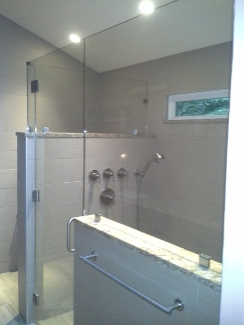 Walk In Shower Modern Bathroom Other By Hancock Home Solutions