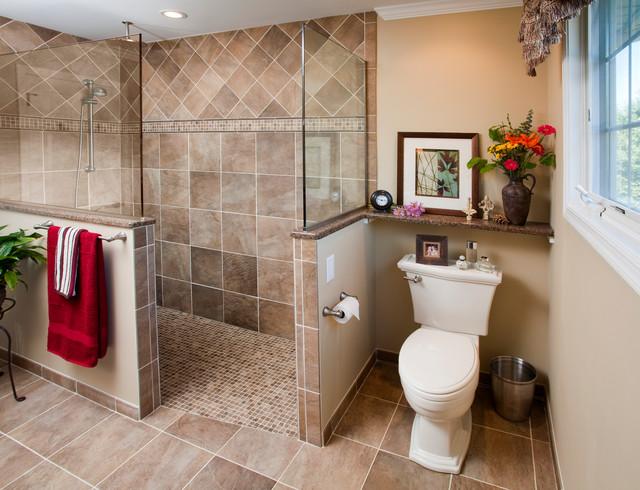 Amazing Bathroom Walk In Showers #4: Walk-in Shower Traditional-bathroom