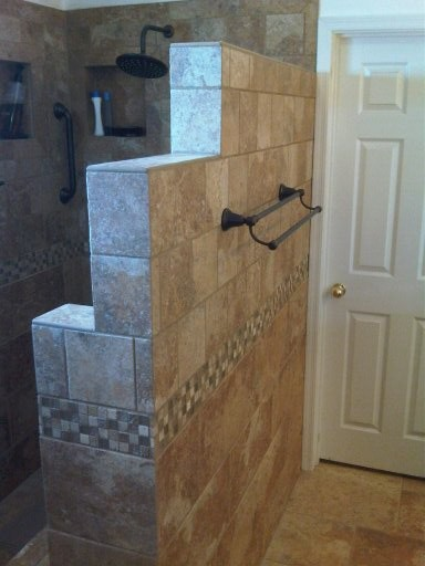 walk in shower traditional bathroom phoenix by novak home improvements llc. Black Bedroom Furniture Sets. Home Design Ideas