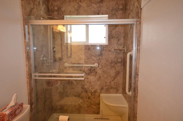 WalkIn Shower Remodel in Arroyo Grande Traditional Bathroom