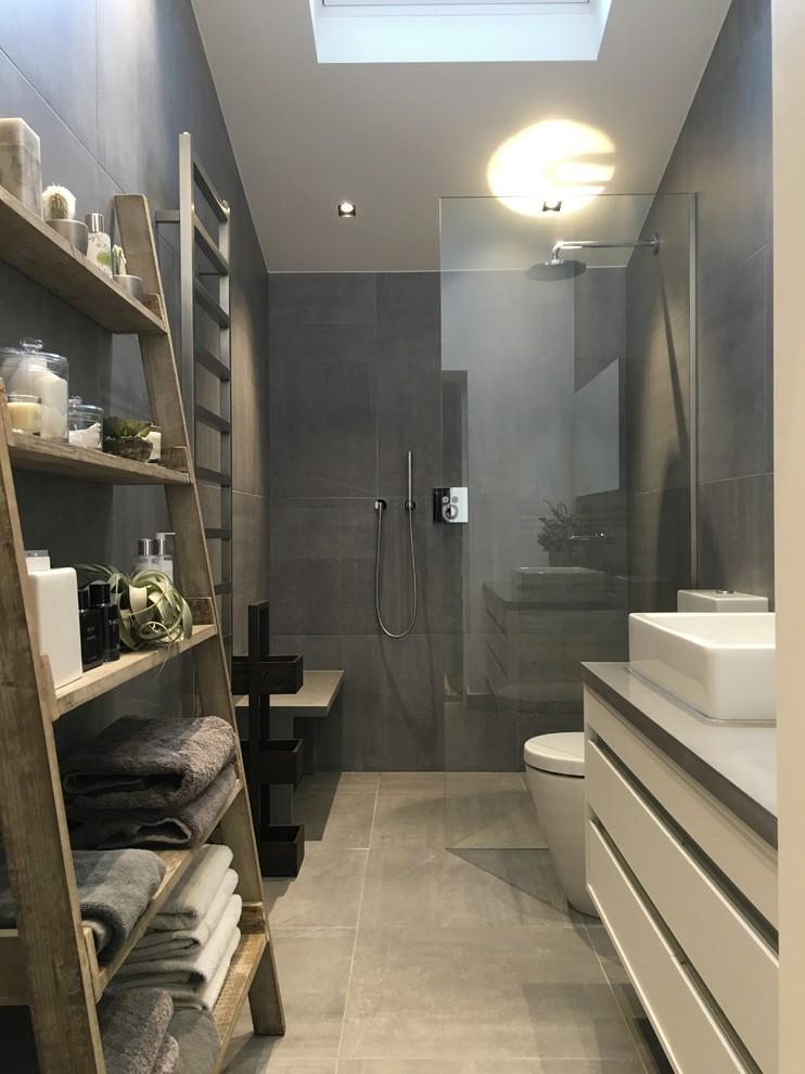 Trendy bathroom photo in London