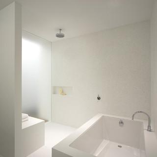 walk in shower modern bathroom new york by sean o 39 brien architecture. Black Bedroom Furniture Sets. Home Design Ideas